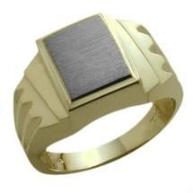Men's 10 Karat Two-Tone Gold Ring Ideal Valentine Days Gift