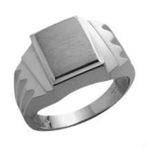 Multi-Texture 10 Karat White Gold Men's Valentine Ring