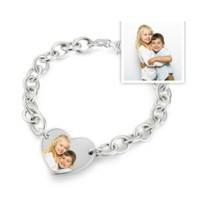 Sterling Silver Photo Engraved Bracelet