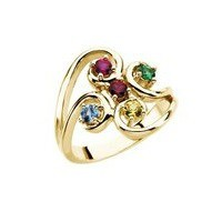 Mother's Ring with Five Birthstones