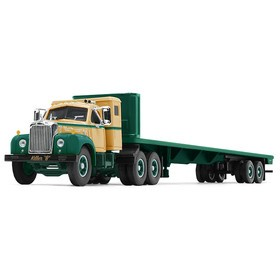 Mack B-61 Sleeper Cab with Flatbed Trailer