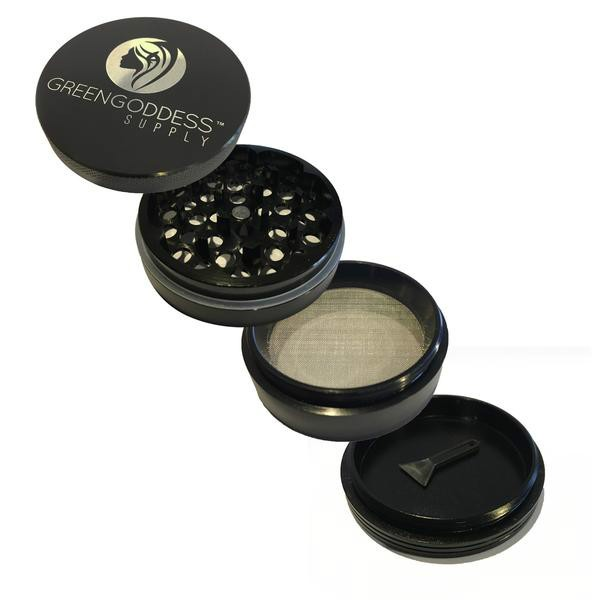 2.5 inch 4-Piece Aluminum Grinder - Black