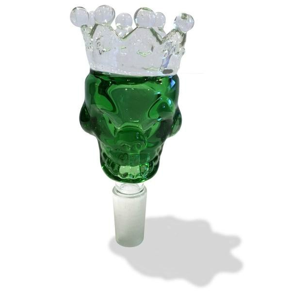 14mm Male Green Skull Crown Herb Holder