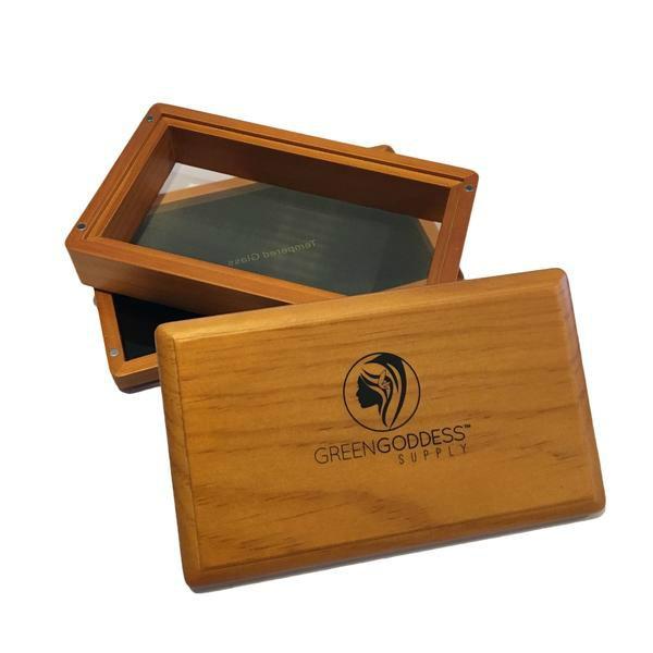 Mini Walnut Pollen Sifter Box