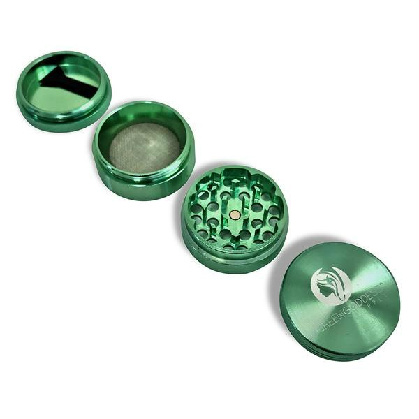 1.5 inch 4-Piece Aluminum Grinder - Green