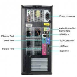 Dell OptiPlex 780 Tower: Intel Core 2 Duo, 4GB Ram, 160GB, DVD, Windows 10 Home
