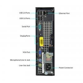 Dell OptiPlex 7010 Ultra Small Desktop: Intel Core i5 (3rd Gen), 4GB Ram, 250GB, Windows 10 Home