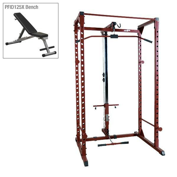 Best Fitness Power Rack Package 3 with Lat and Bench