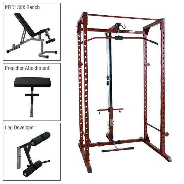 Best Fitness Power Rack Package 4 with Lat and Bench