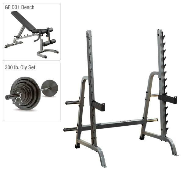 Body-Solid Olympic Press Rack Package with Bench