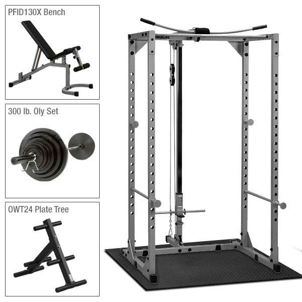 Powerline Power Rack Package P4 Weight Bench