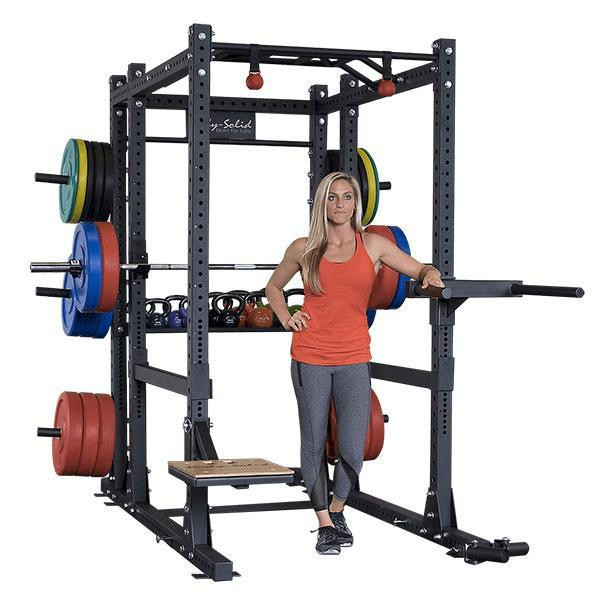 Body-Solid Commercial Extended Power Rack Package Simulates Free Weight Movement