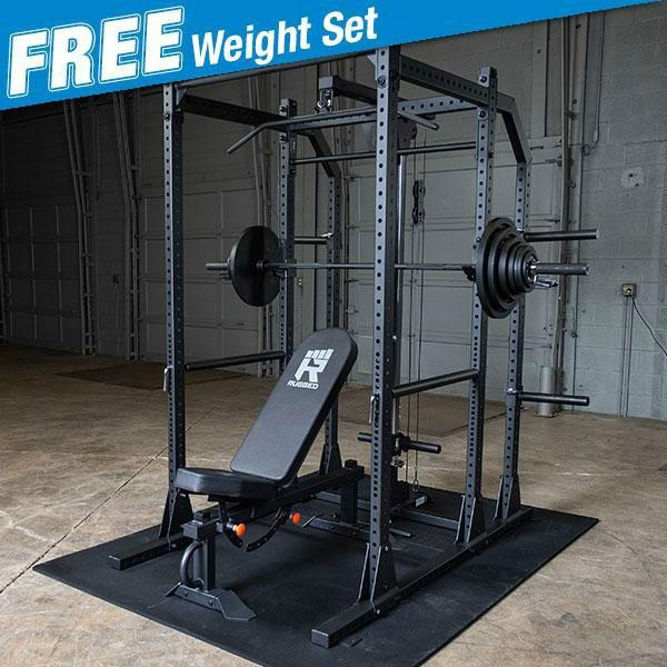 Rugged POWER RACK Package with FREE 300lb. Weight Set