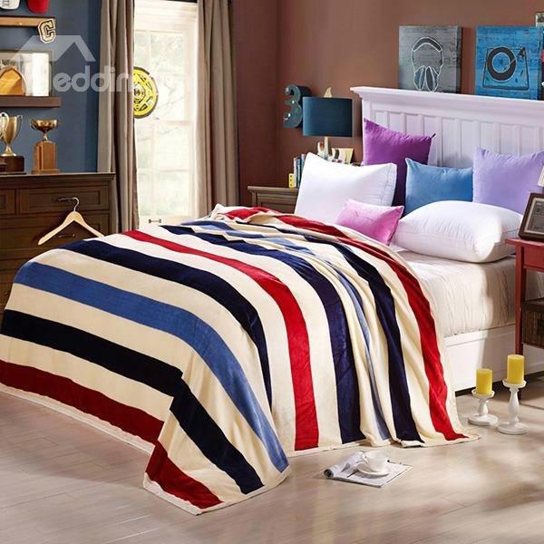 Faddish Colorful Stripes Design Anti-pilling