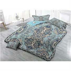Jacquard Pattern Wear-resistant Breathable High Quality 60s Cotton 4-Piece 3D Bedding Sets