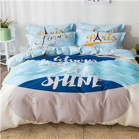 Simple Style Letters Printed Cotton Kids Duvet Covers/Bedding Sets