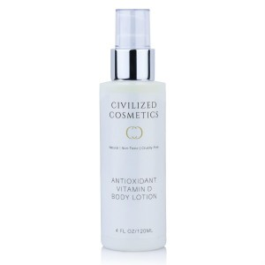 Antioxidant lotion with healthy stimulating vitamin D3 for maximum skin hydration