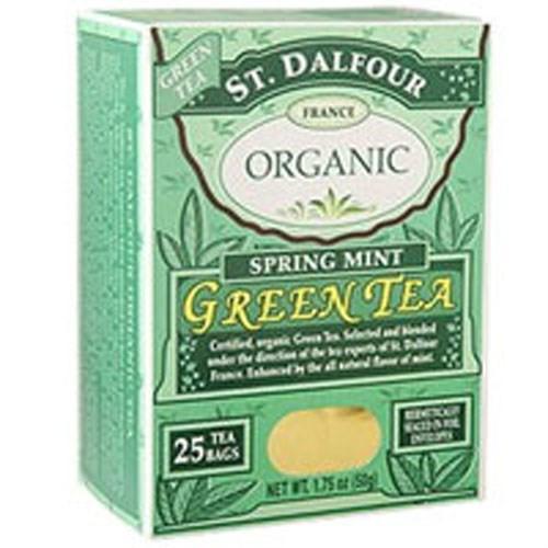 Green Tea Organic - SPRING MINT, 25 CT