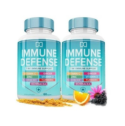 SEVEN Immunity Boosting ingredients. Sambucus Elderberry with Turmeric and Ginger help provide antioxidant support, Zinc citrate oxide (an essential nutrient) helps promote immune function.