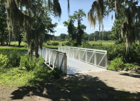 Prefabricated Pedestrian Bridge 10x40 Prefabricated Aluminum Bridge that Replace an existing Wood Bridge  Beaufort, South Carolina