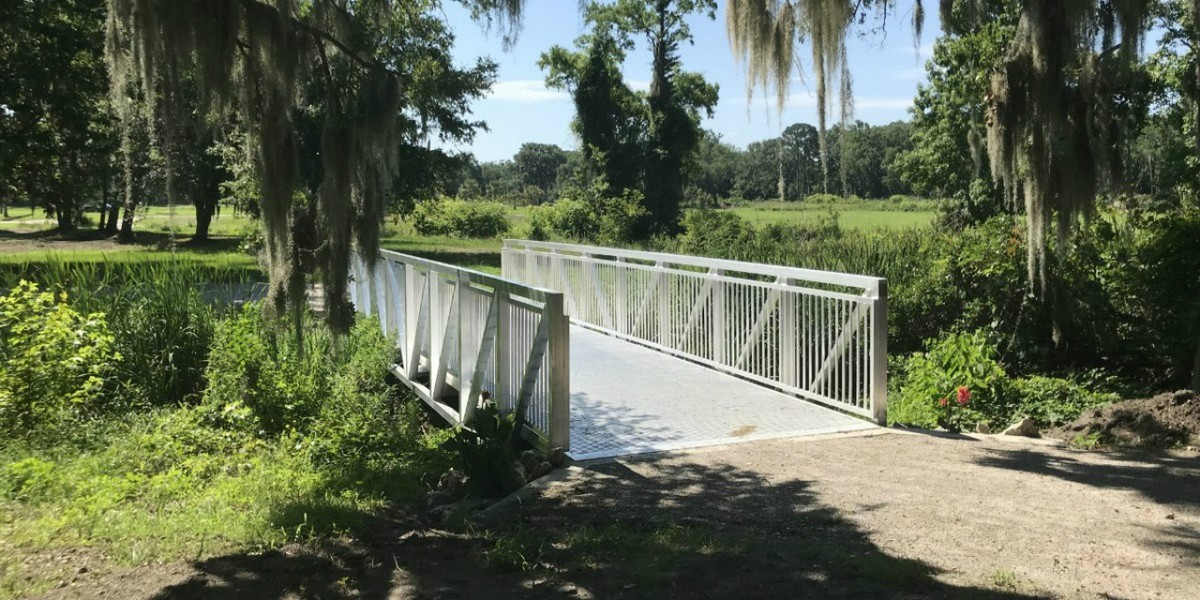 10x40 Prefabricated Aluminum Bridge that replace an existing wood bridge  Beaufort, South Carolina