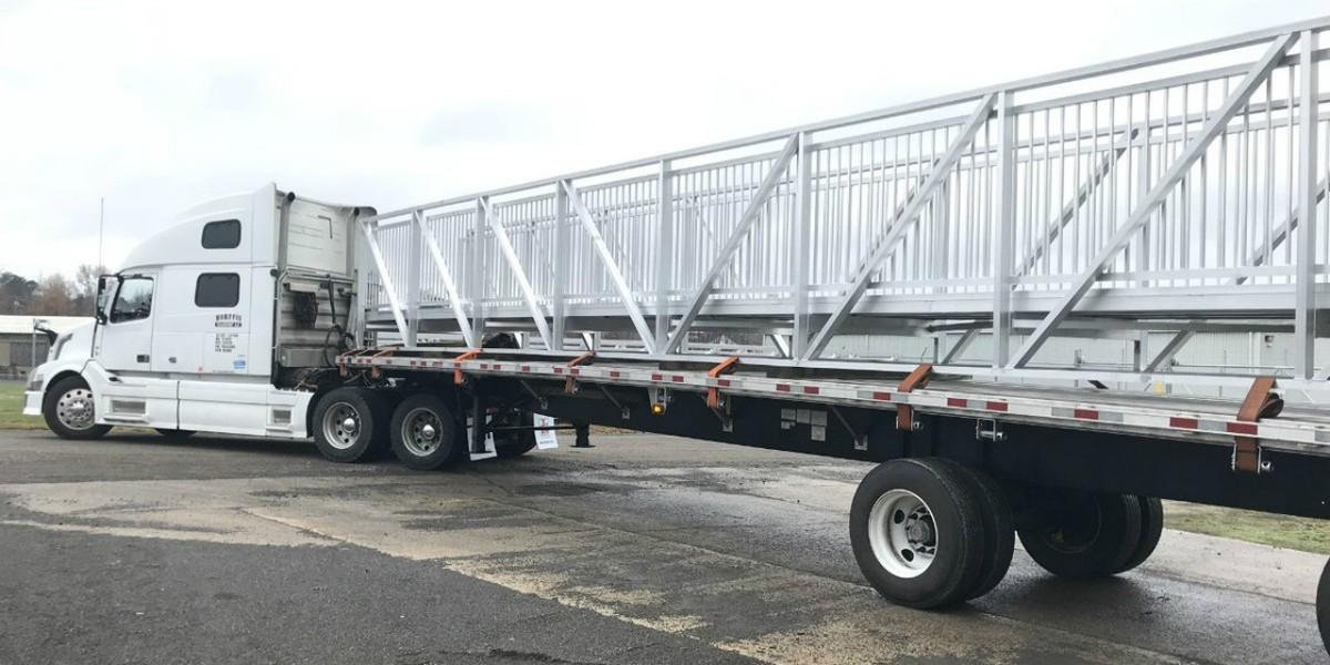 Aluminum Trail and Park Bridges Buck Griffin Park Aluminum Bridge for Port St. Joe, Florida