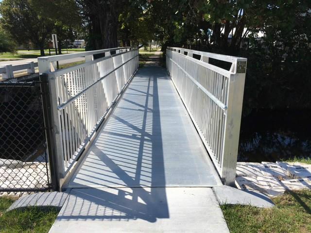 Southside Park Aluminum Bridge to replace a wooden bridge