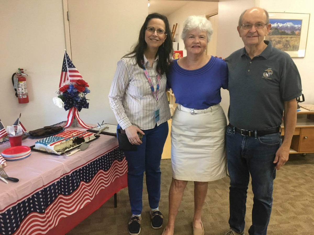 DALE RUSHING-OAKHURST LIBRARY BRANCH MANAGER, CANDACE FLAMMANG, AND BILL RUSHING-BAKER AND PASTOR EXTRAORDINAIRE