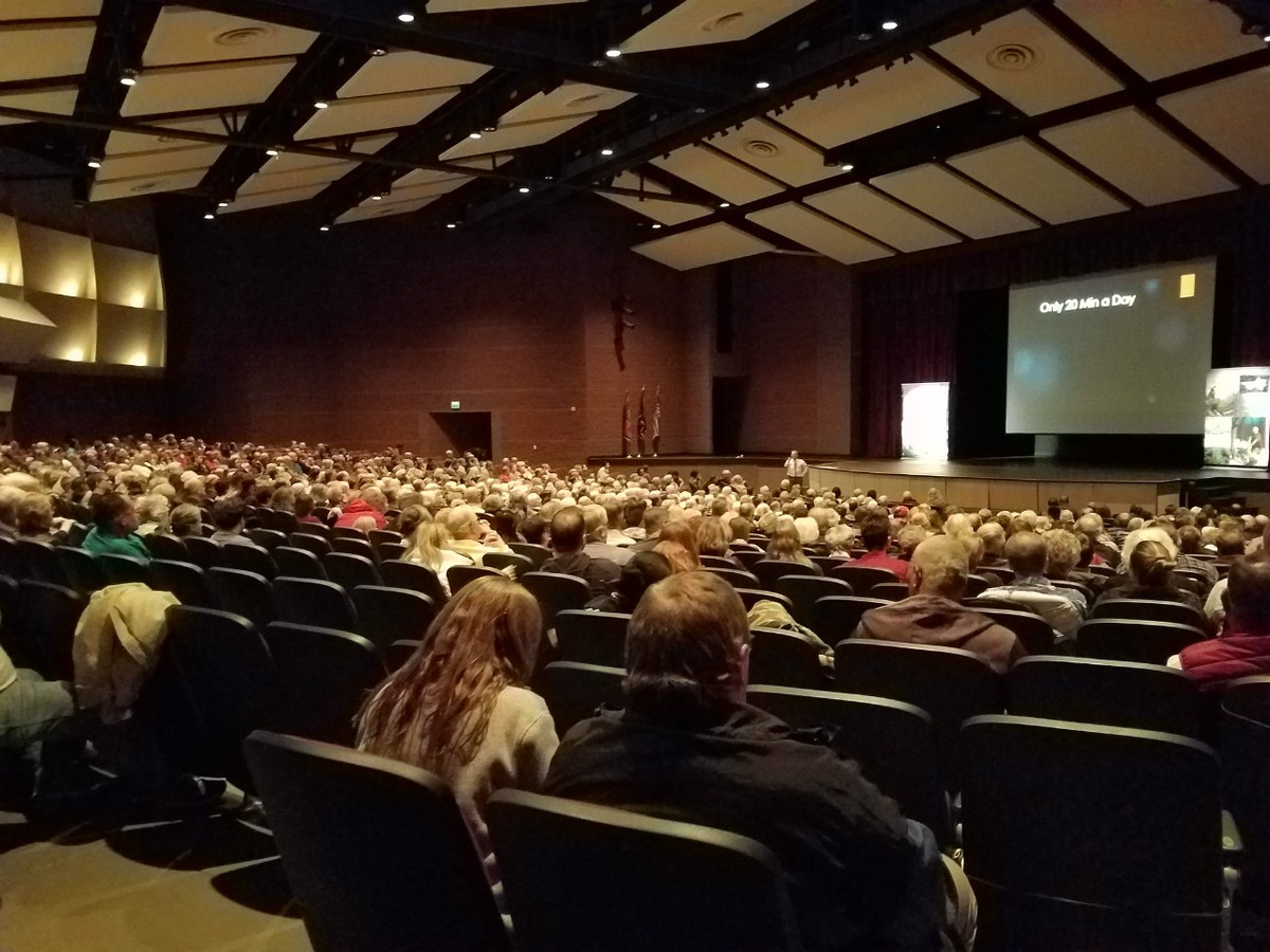 Audience at Murray High School on February 5, 2018