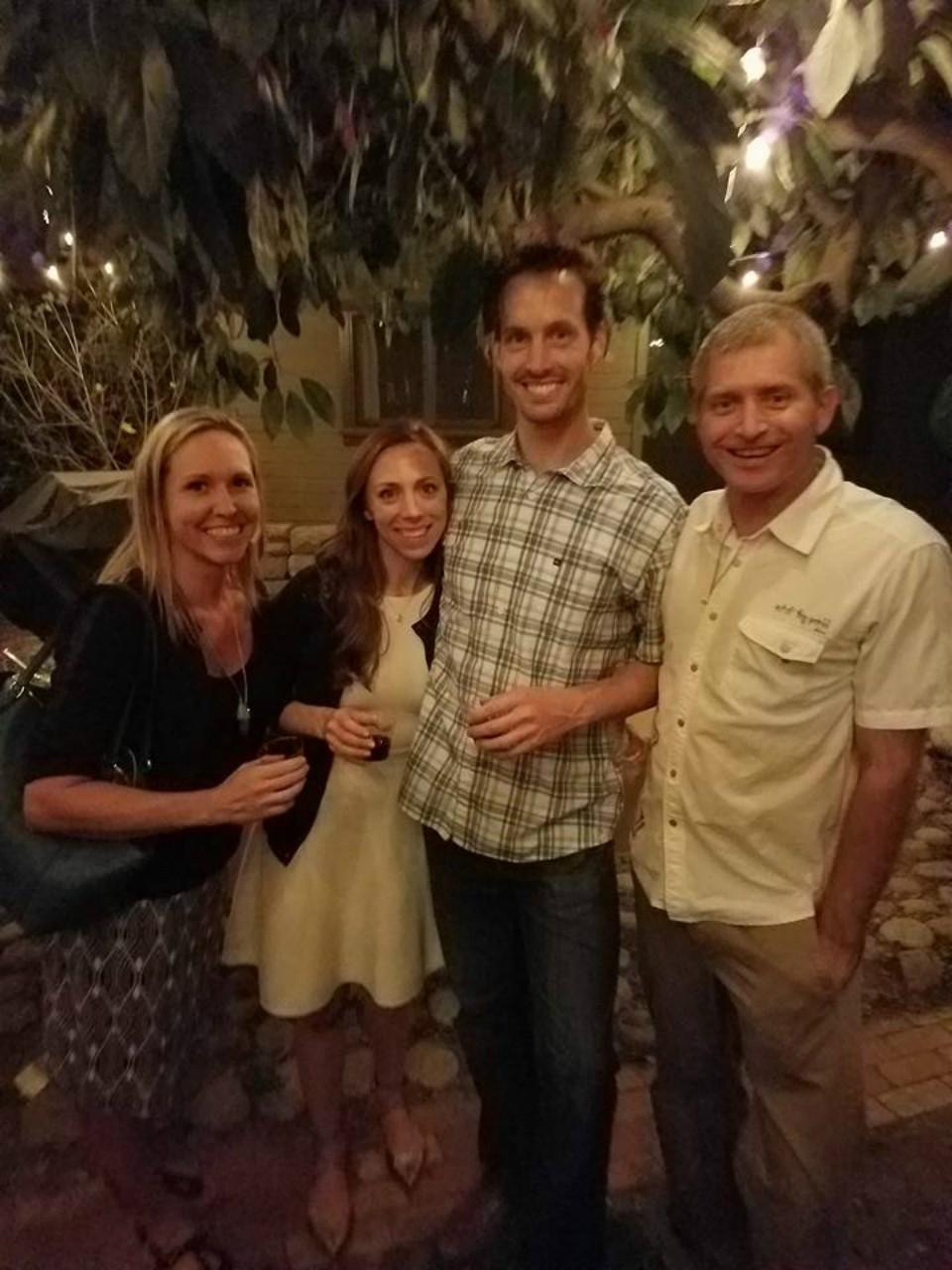 Tara and Rob Sivulka with Elizabeth and Matt Vessey