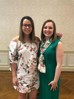 Pictured above Two of the 2018 Scholarship Recipients: Mary Jo Palko-Kappa Sigma & Jackie Andrascik-Delta Zeta