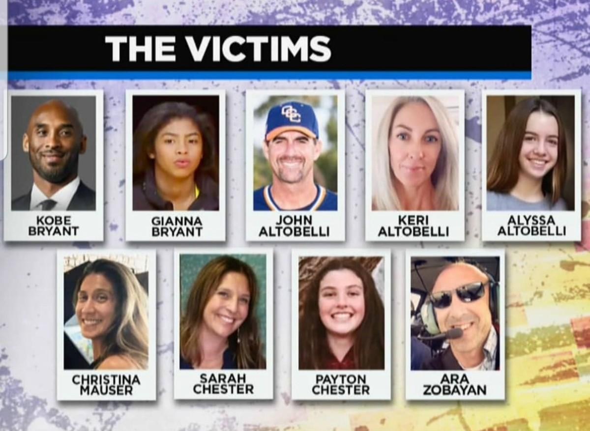 Kobe Bryant among 9 killed in helicoptor crash