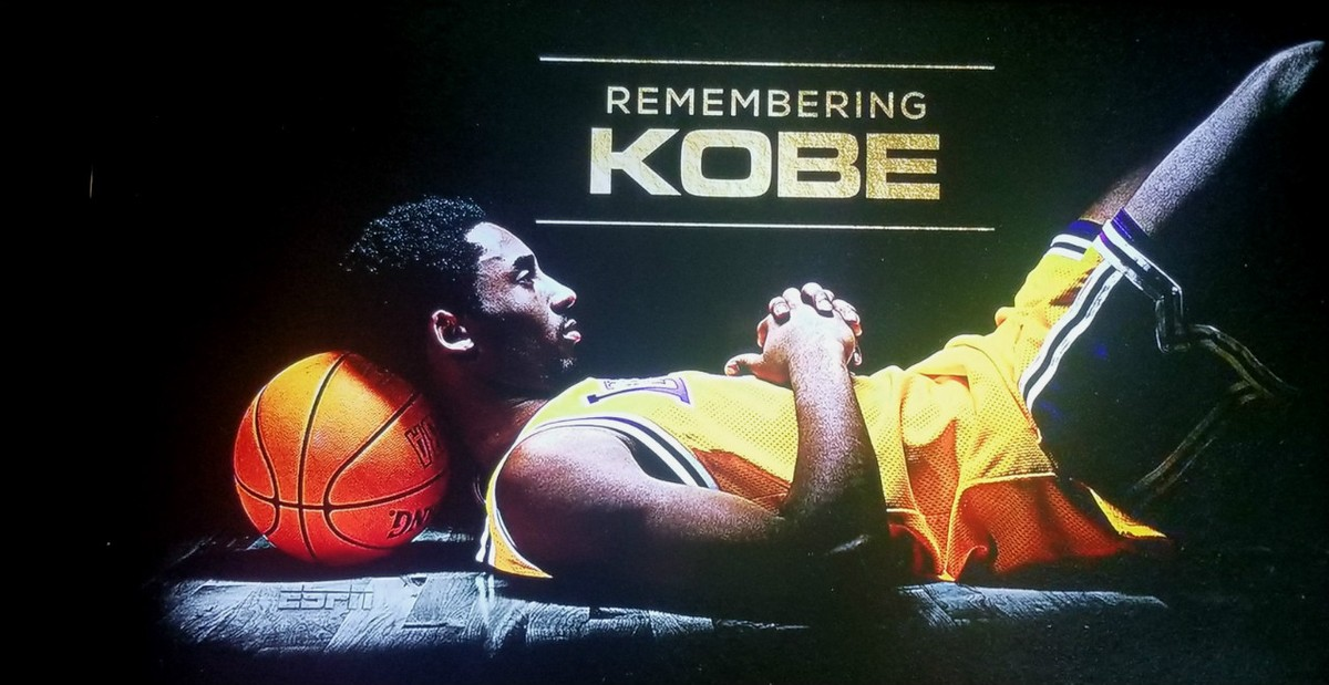 Lakers remember Kobe in a tribute before the game Friday night.